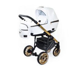 Детская коляска Bruca Style 2 в 1 (Белый/золотой)