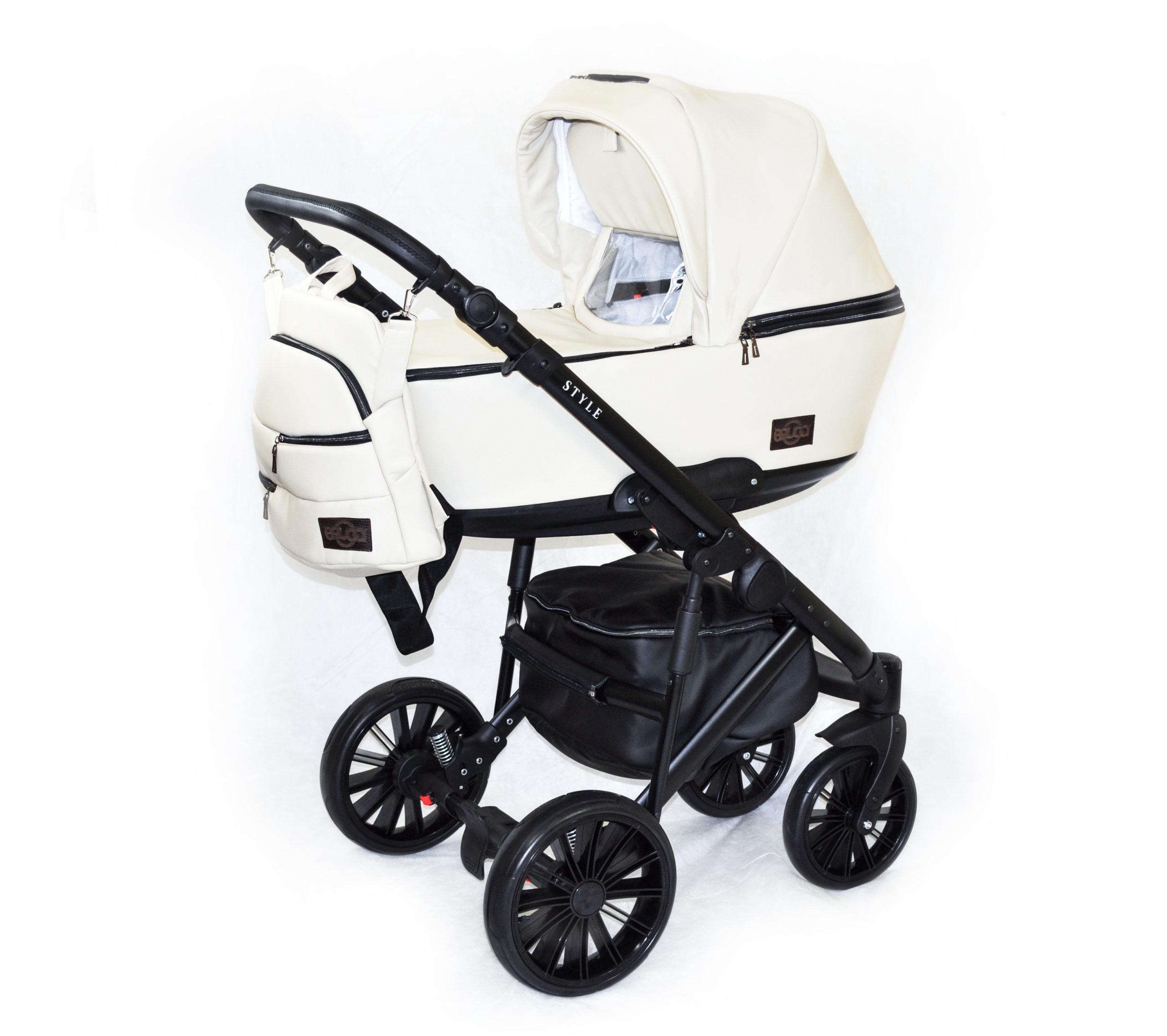 Детская коляска Bruca Style 2 в 1 (Бежево-белый)