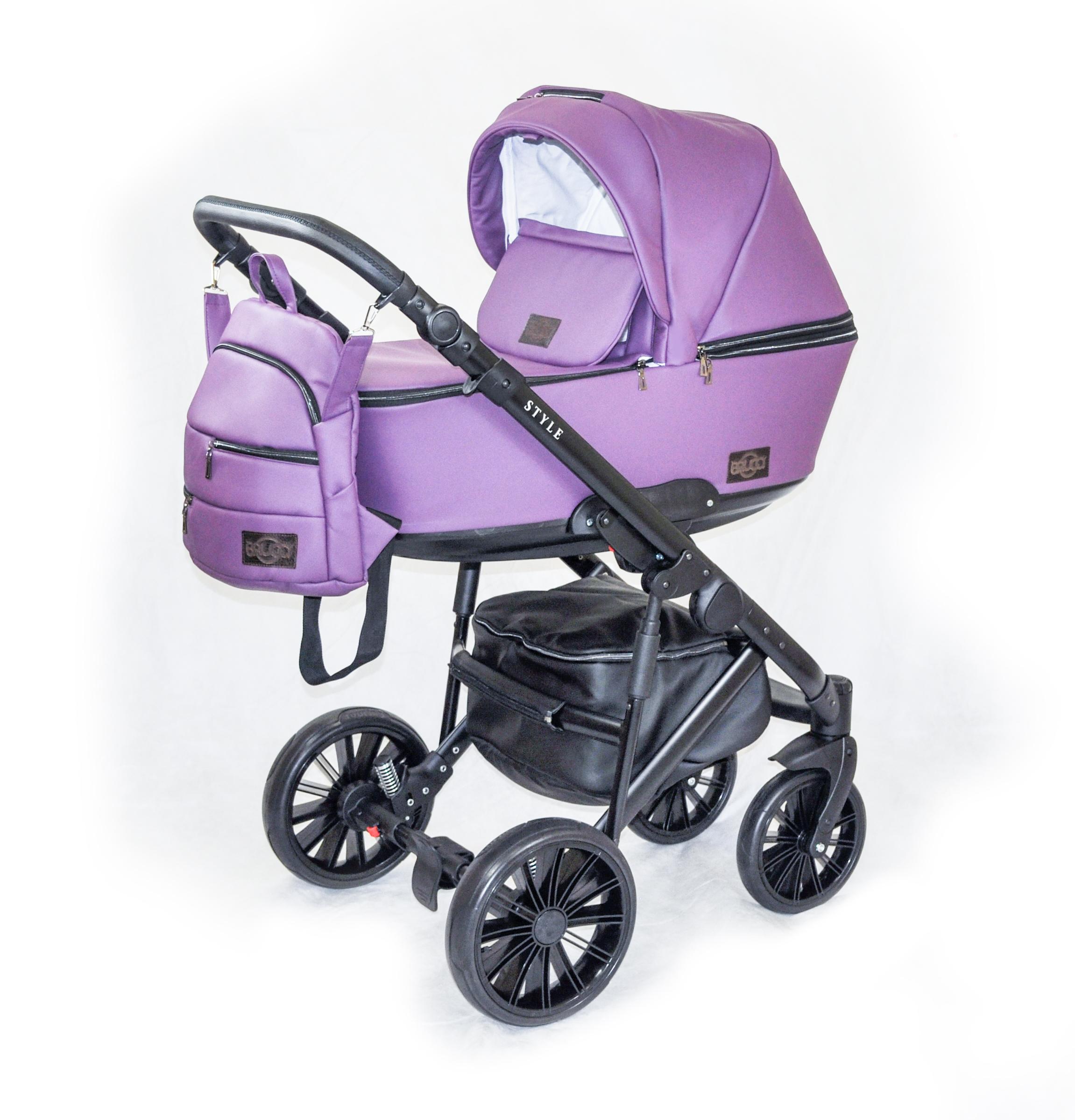 Детская коляска Bruca Style 2 в 1 (Фиолетовый)