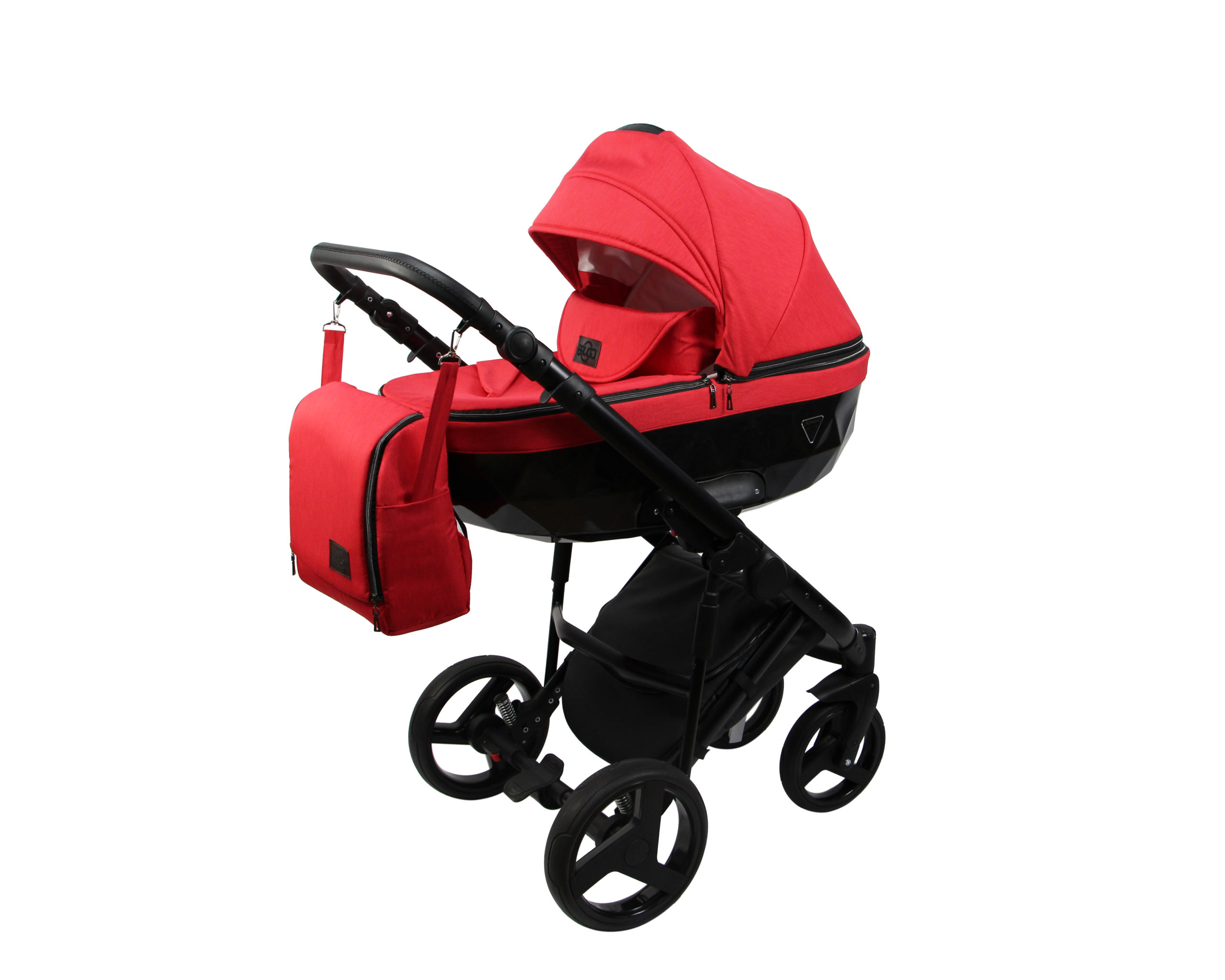 Детская коляска Bruca Vegas 2 в 1 (Красный/черный)