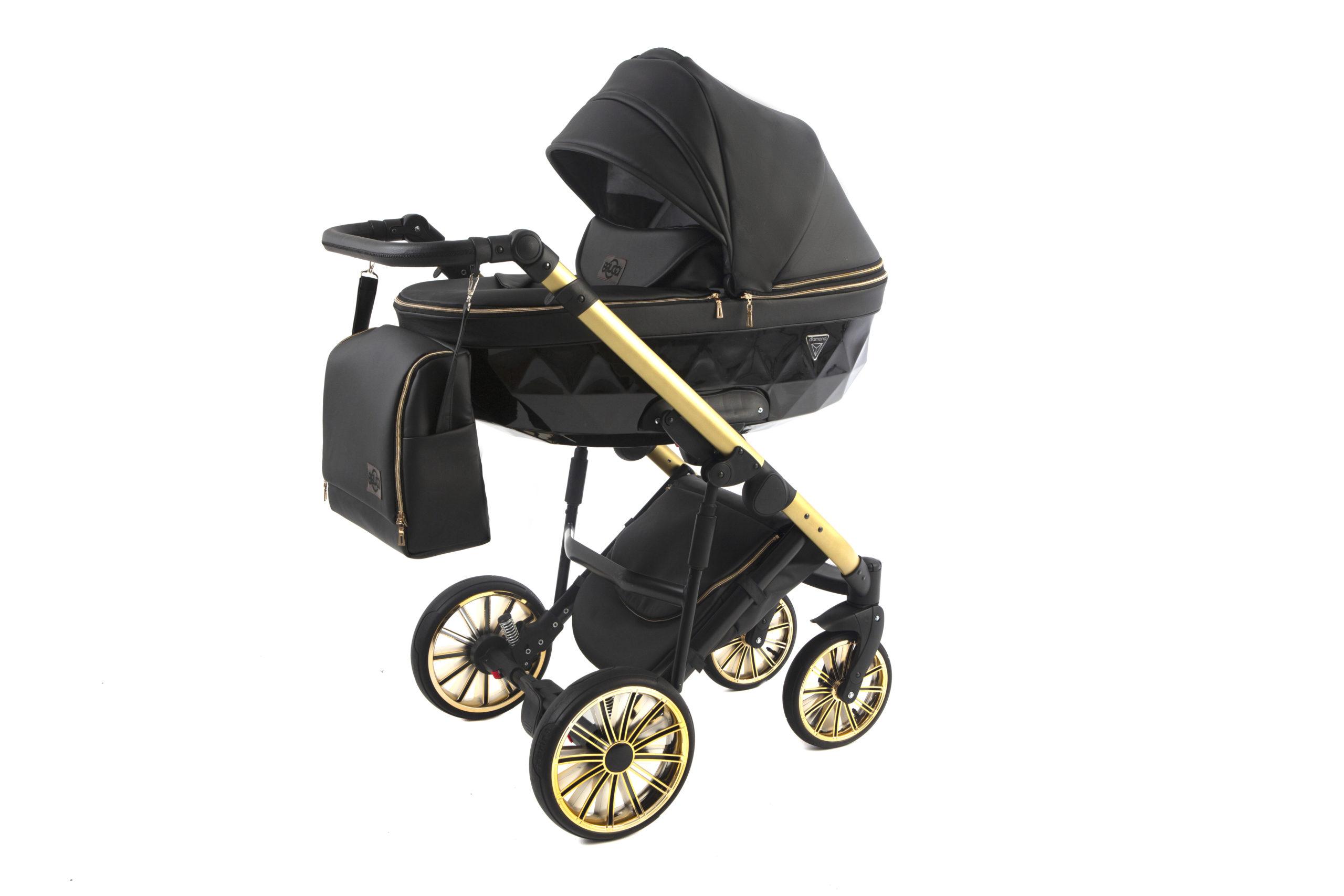 Детская коляска Bruca Vegas 2 в 1 (Черный/золотой)