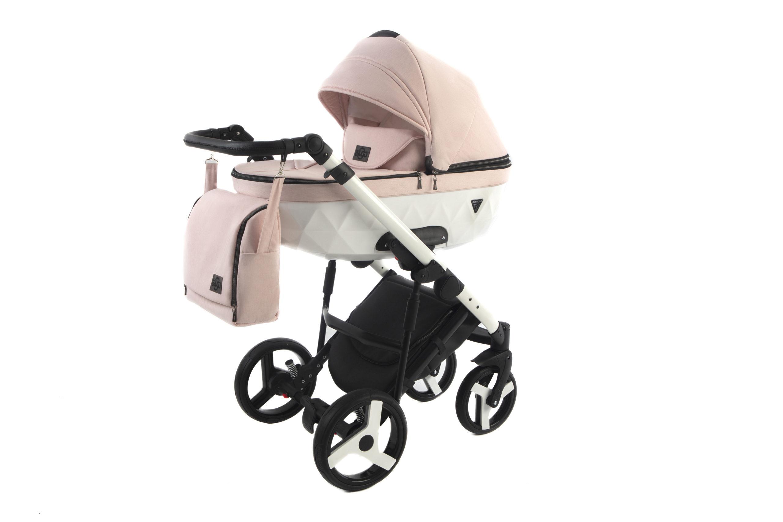 Детская коляска Bruca Vegas 2 в 1 (Розовый/белый)