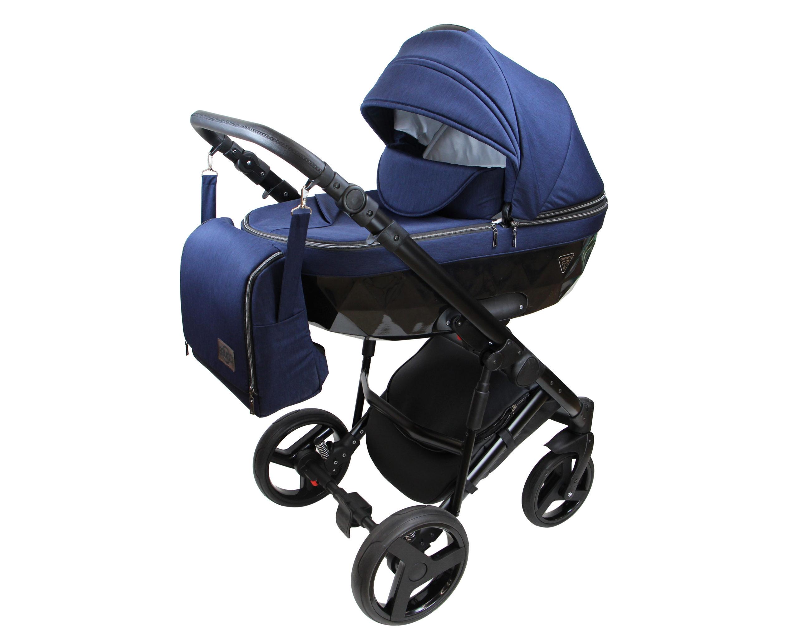 Детская коляска Bruca Vegas 2 в 1 (Синий/черный)