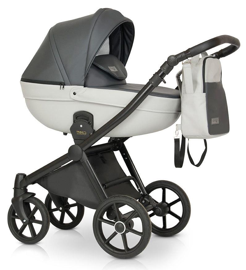 Детская коляска Verdi Mirage Soft 3 в 1 (Светло-серый)