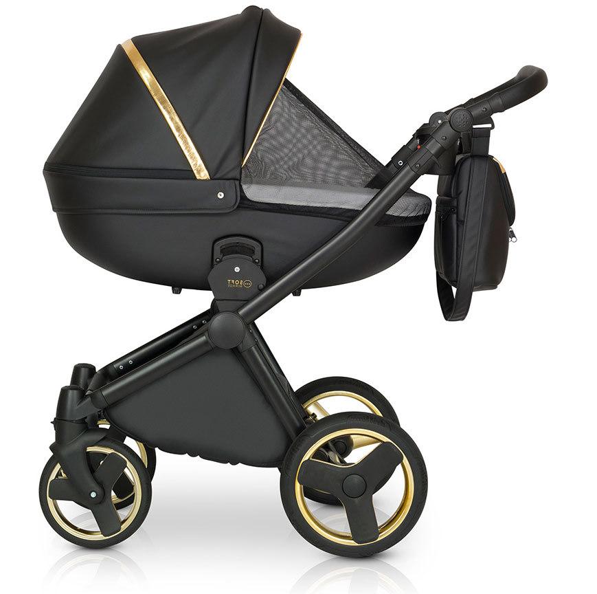Детская коляска Verdi Mirage Soft 3 в 1 (Черный/золотой)