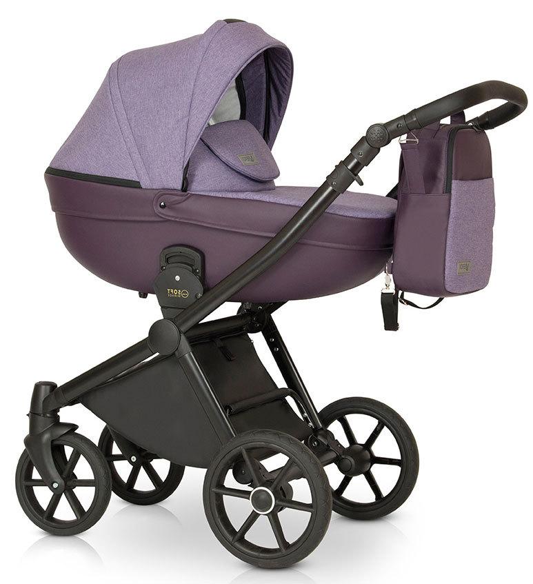 Детская коляска Verdi Mirage Soft 3 в 1 (Фиолетовый)