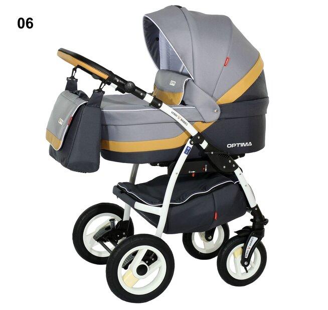Детская коляска Verdi Optima 3 в 1 (Серый)
