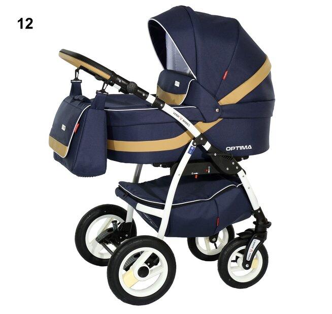 Детская коляска Verdi Optima 3 в 1 (Синий/желтый)
