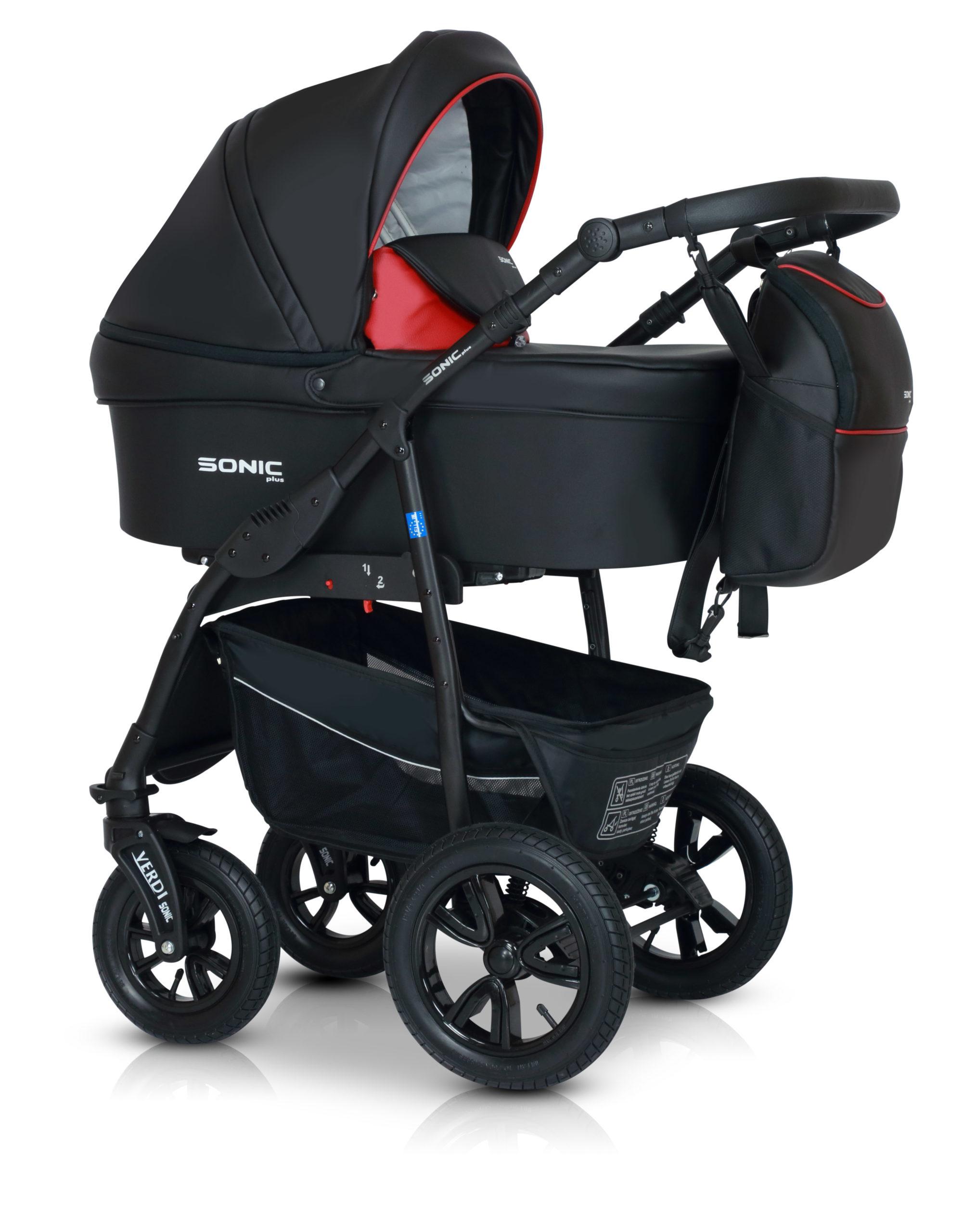 Детская коляска Verdi Sonic Plus 3 в 1 (Черный/красный)