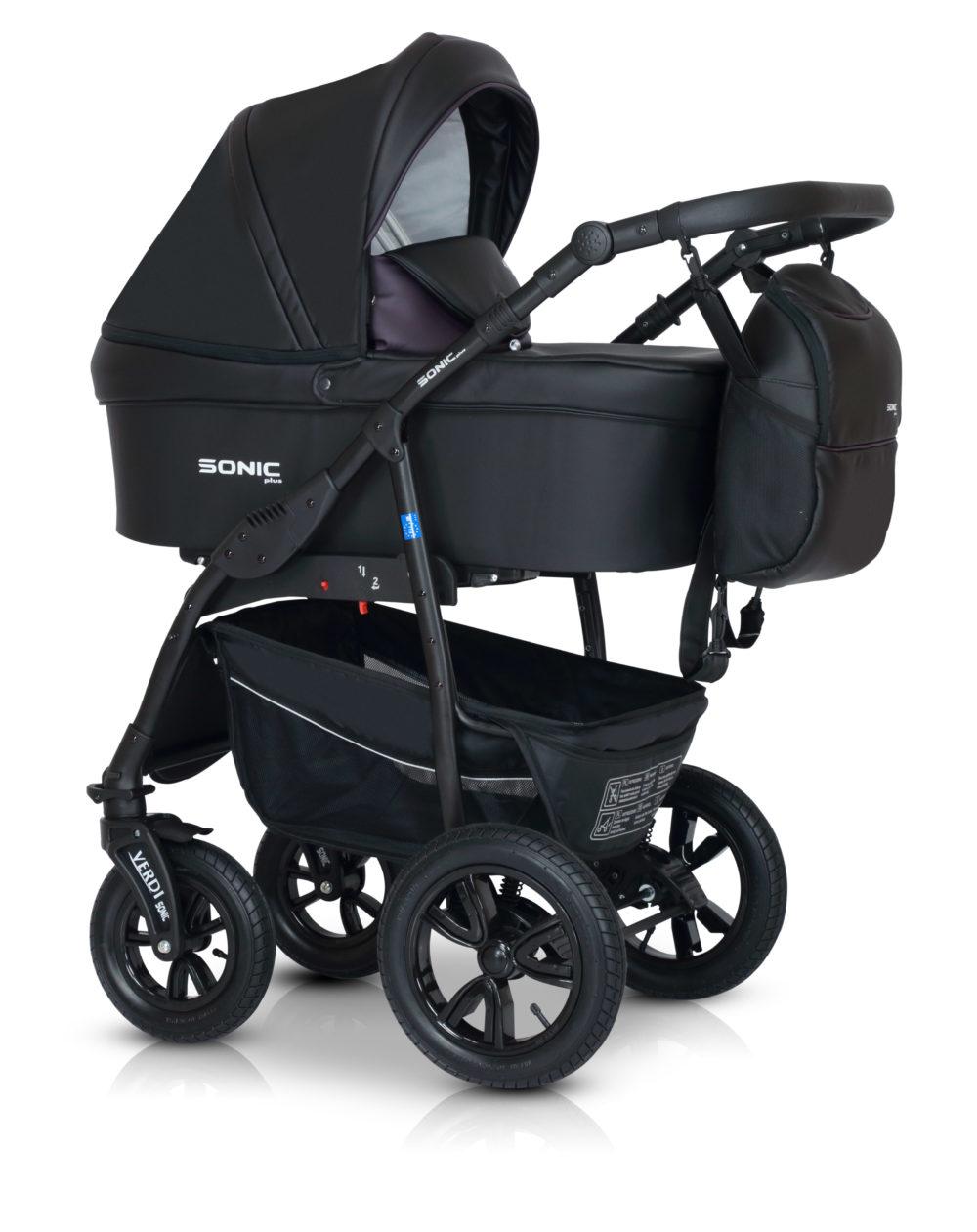 Детская коляска Verdi Sonic Plus 3 в 1 (Черный/фиолетовый)