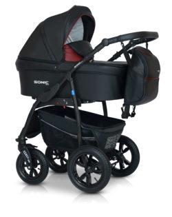 Детская коляска Verdi Sonic Plus 3 в 1 (Черный/бордовый)