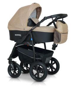 Детская коляска Verdi Sonic Plus 3 в 1 (Бежевый/черный)
