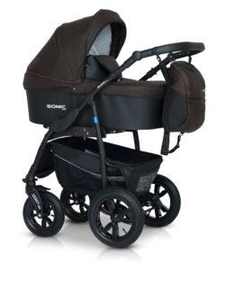 Детская коляска Verdi Sonic Plus 3 в 1 (Темно-коричневый)