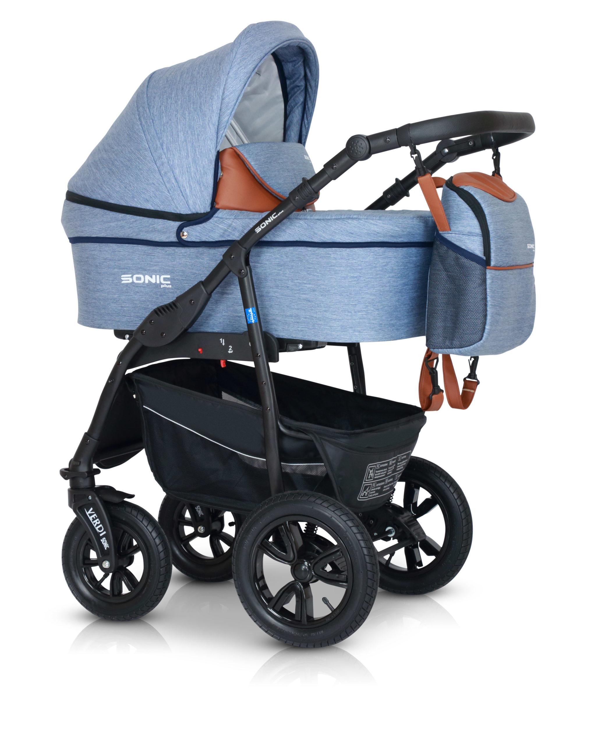 Детская коляска Verdi Sonic Plus 3 в 1 (Голубой)