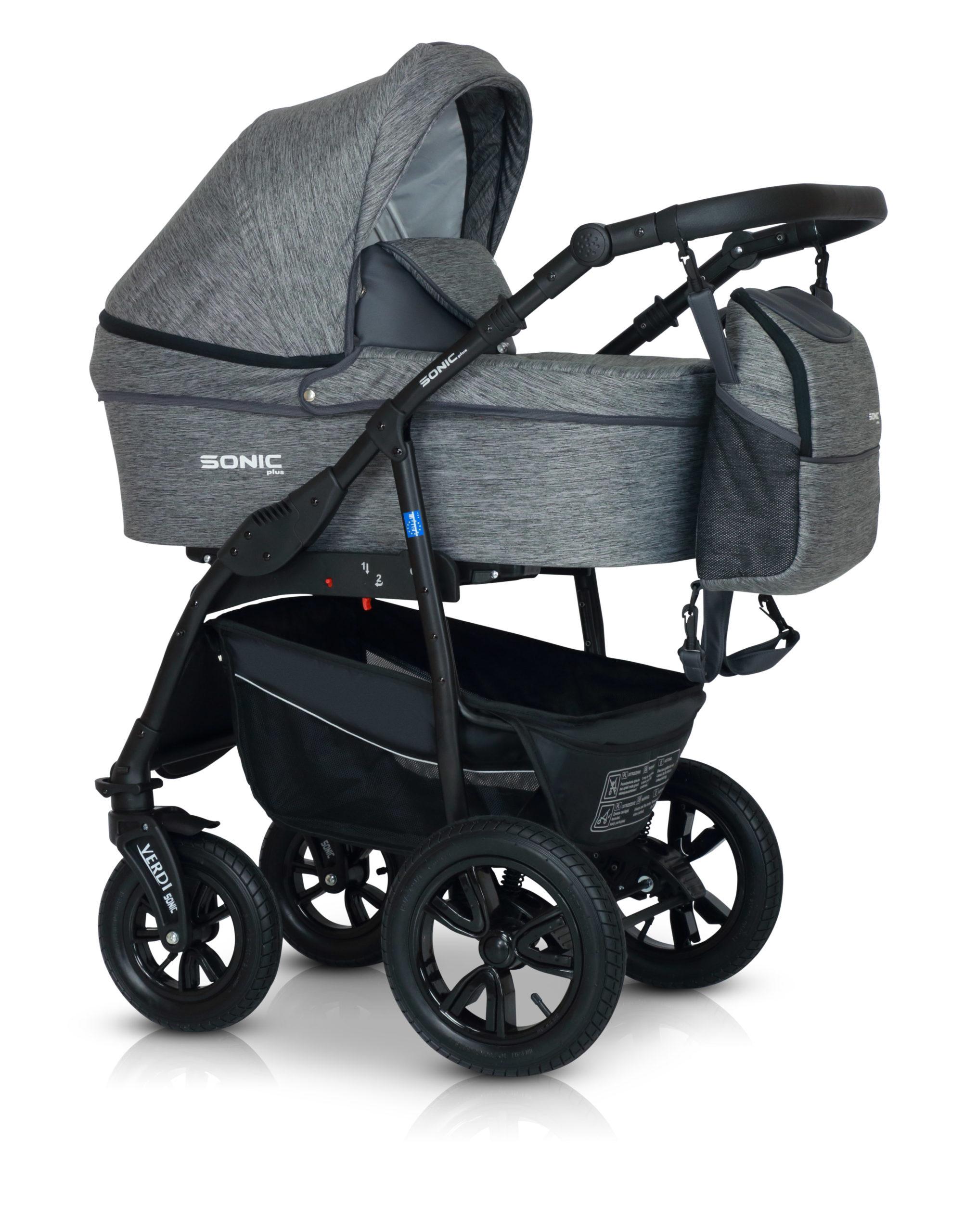 Детская коляска Verdi Sonic Plus 3 в 1 (Темно-серый)