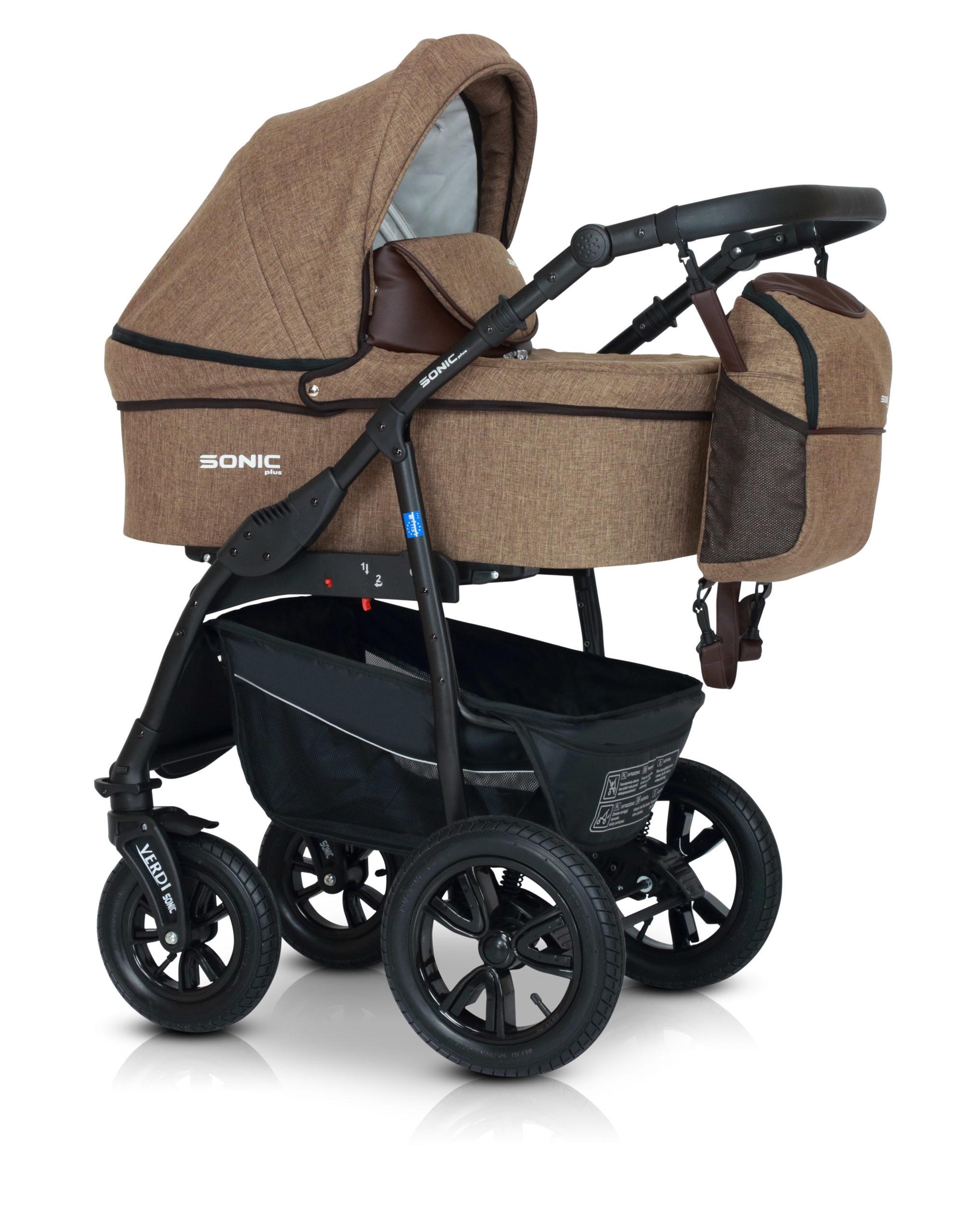 Детская коляска Verdi Sonic Plus 3 в 1 (Светло-коричневый)