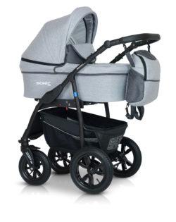 Детская коляска Verdi Sonic Plus 3 в 1 (Серый)