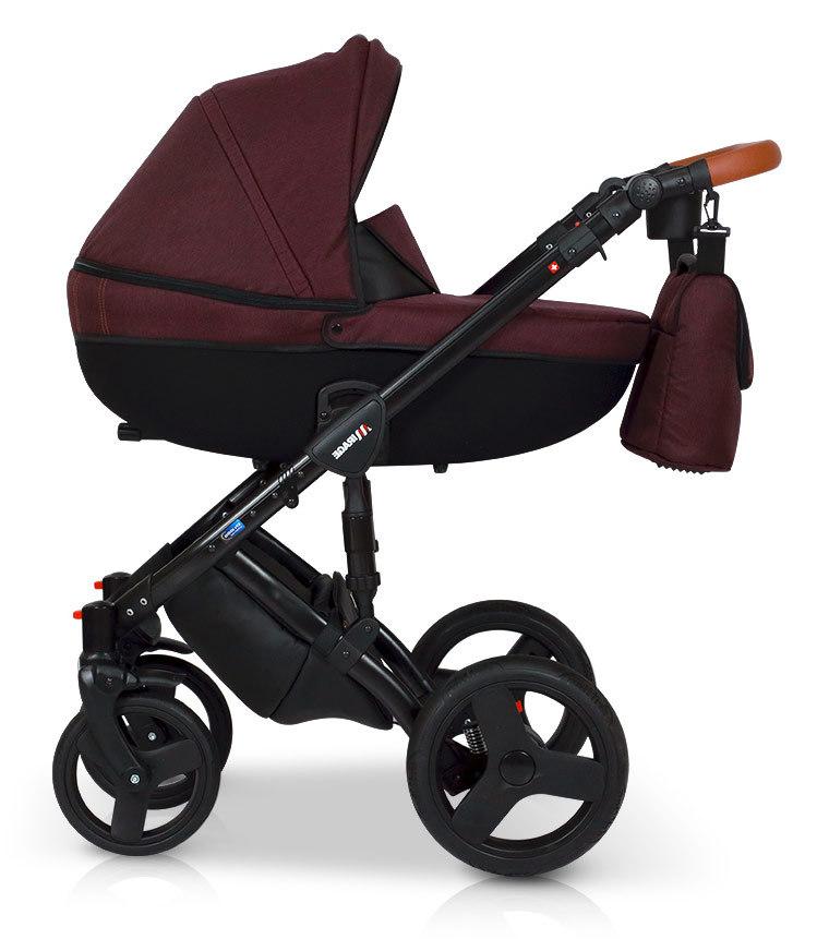 Детская коляска Verdi Mirage 3 в 1 (Бордовый)