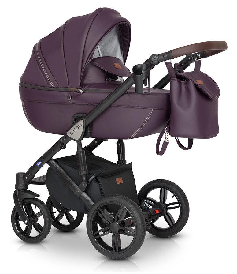 Детская коляска Verdi Mocca 3 в 1 (Фиолетовый)