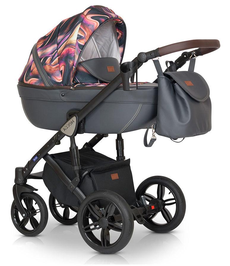 Детская коляска Verdi Mocca 3 в 1 (Розовый/серый)