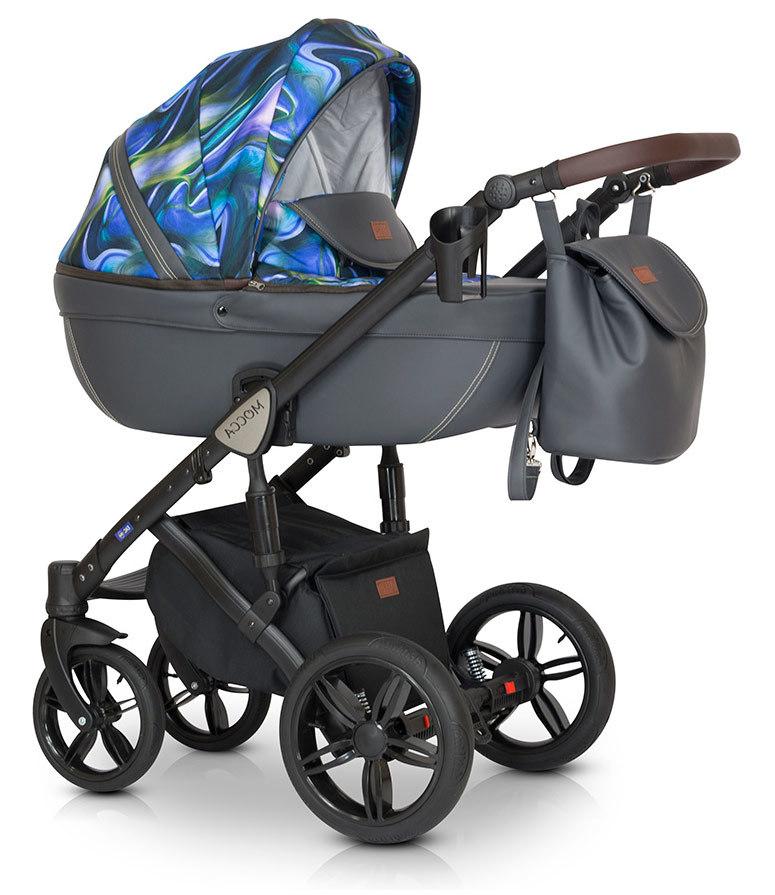 Детская коляска Verdi Mocca 3 в 1 (Синий/серый)