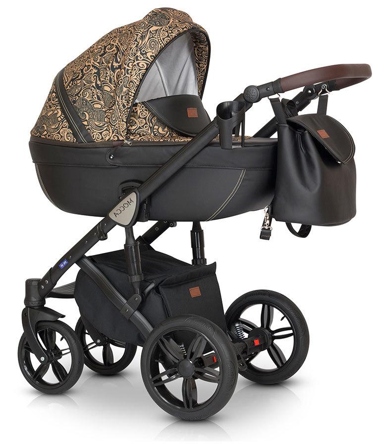 Детская коляска Verdi Mocca 3 в 1 (Черный/золотой)