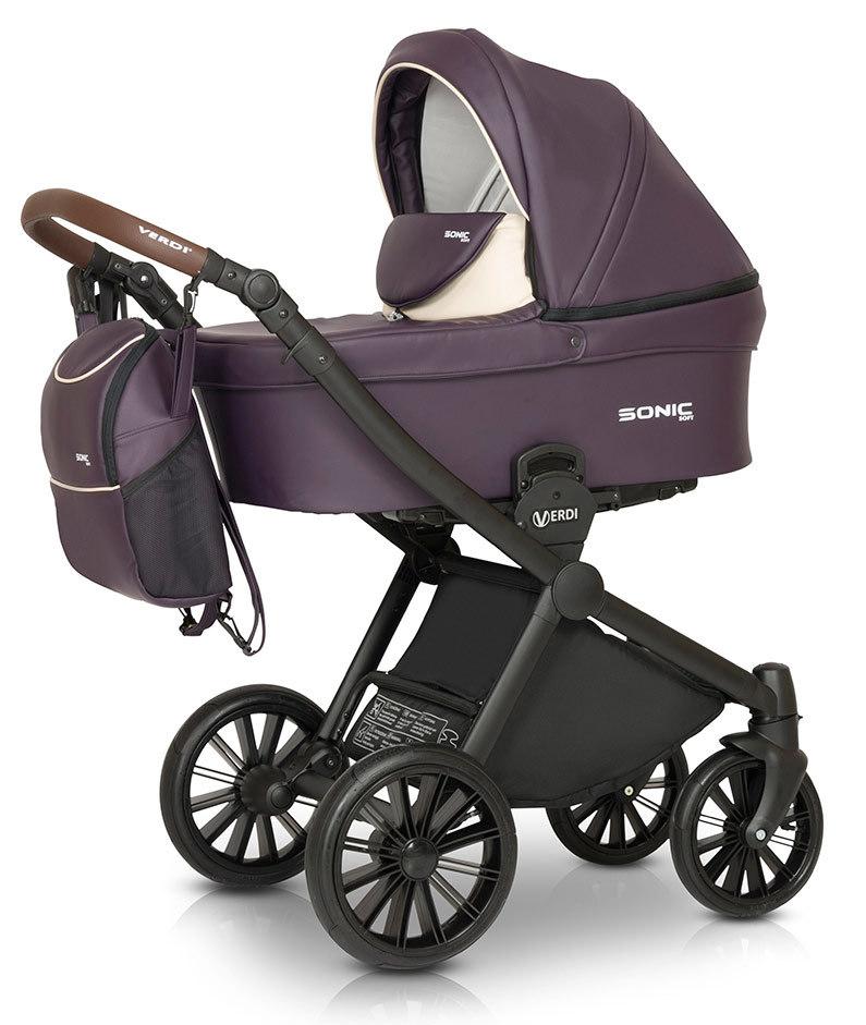 Детская коляска Verdi Sonic Soft 3 в 1 (Фиолетовый)