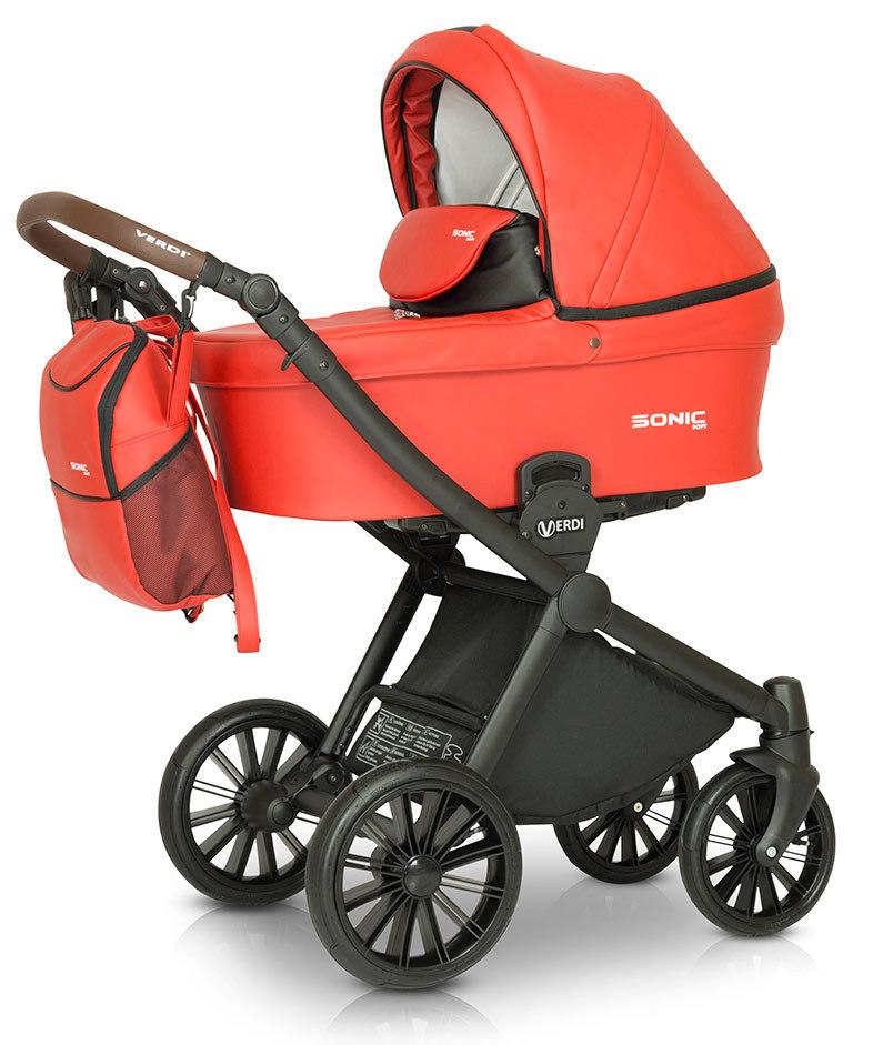 Детская коляска Verdi Sonic Soft 3 в 1 (Красный)