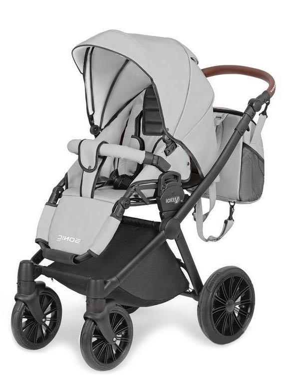 Детская коляска Verdi Sonic Soft 3 в 1 (Серый)