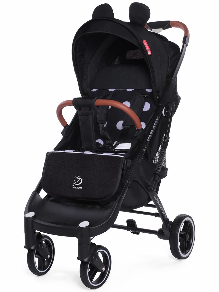 Прогулочная коляска Jetem Yoya Grand, черное шасси (Черный/белый)