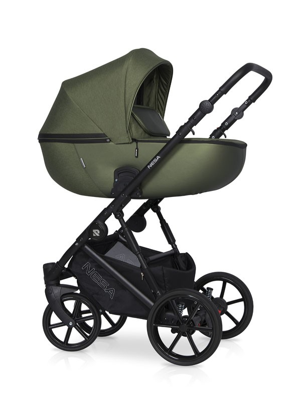 Детская коляска Riko Nesa 2 в 1 (Темно-зеленый)