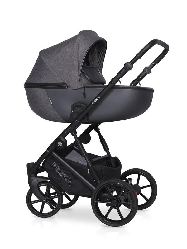 Детская коляска Riko Nesa 2 в 1 (Серый)