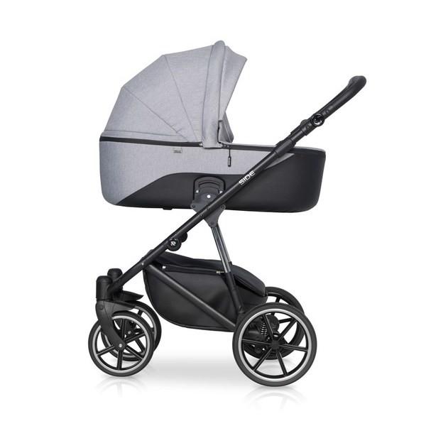Детская коляска Riko Side 2 в 1 (Серый)
