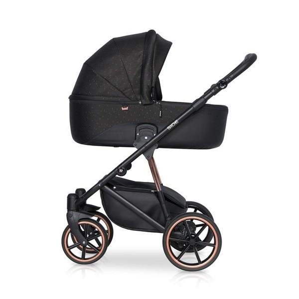 Детская коляска Riko Side 2 в 1 (Медный/черный)
