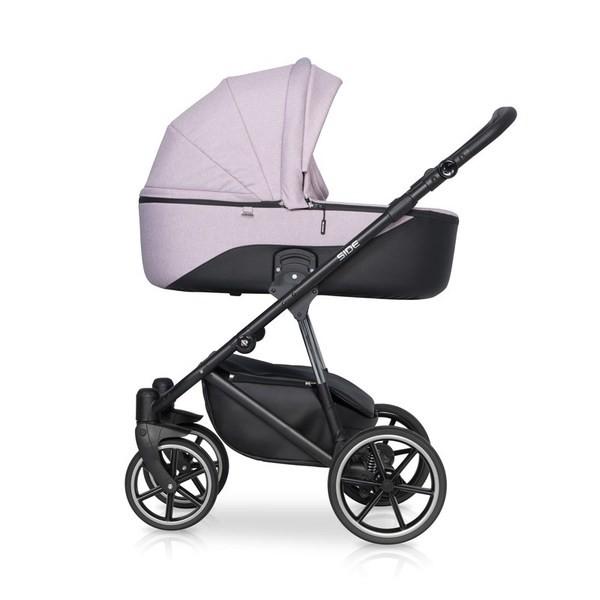 Детская коляска Riko Side 2 в 1 (Розовый)
