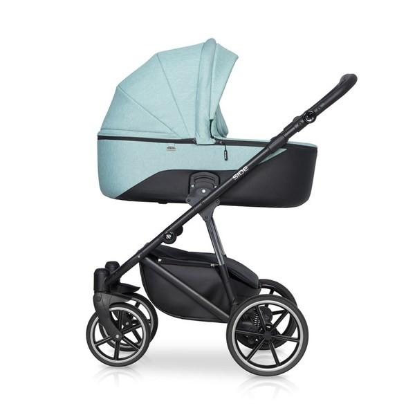 Детская коляска Riko Side 2 в 1 (Голубой)