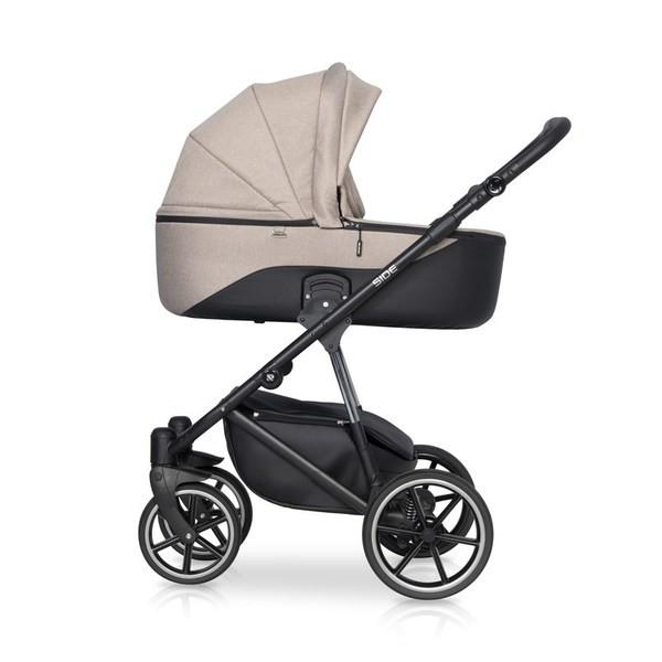 Детская коляска Riko Side 2 в 1 (Бежевый)