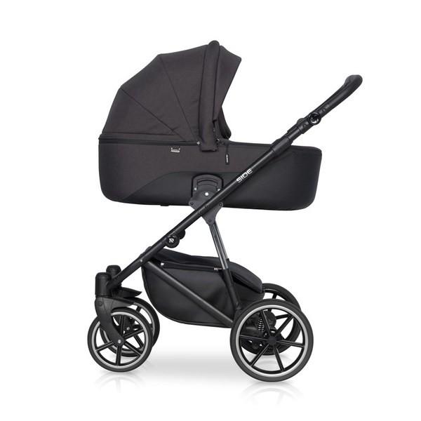 Детская коляска Riko Side 2 в 1 (Черный)
