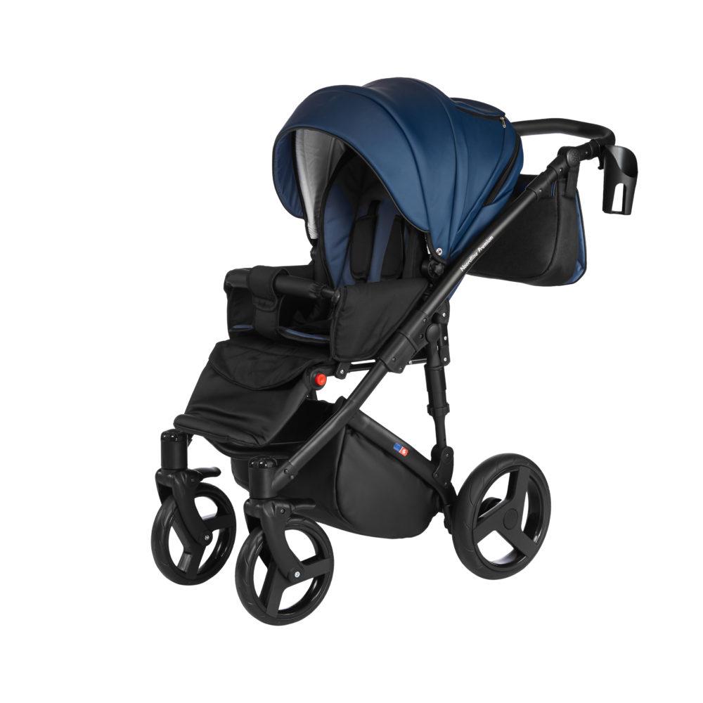 Детская коляска Noordline Оlivia Premium Sport  3 в 1 КОЖА (Синий)