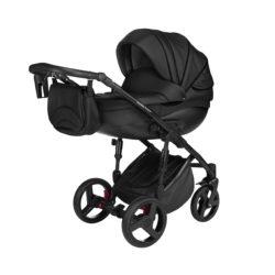 Детская коляска Noordline Оlivia Premium Sport  3 в 1 КОЖА (Черный)