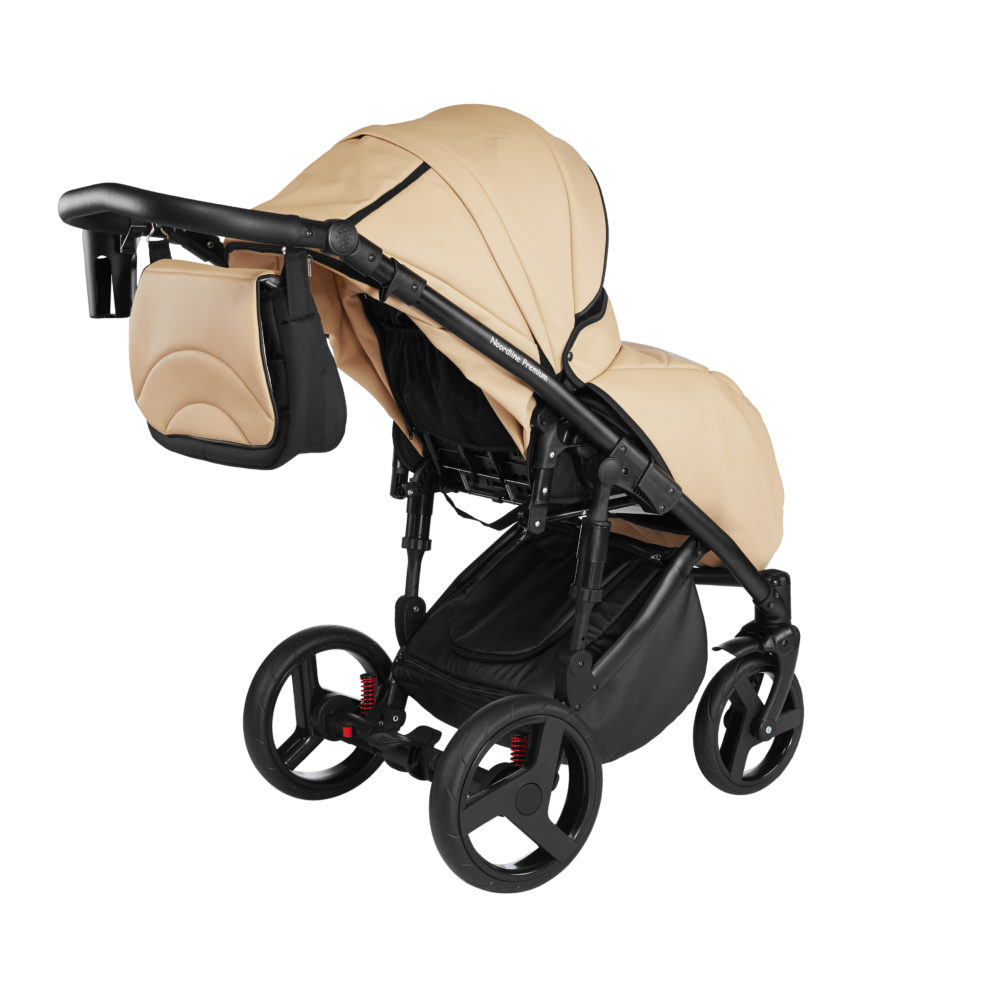 Детская коляска Noordline Оlivia Premium Sport  3 в 1 КОЖА (Бежевый)