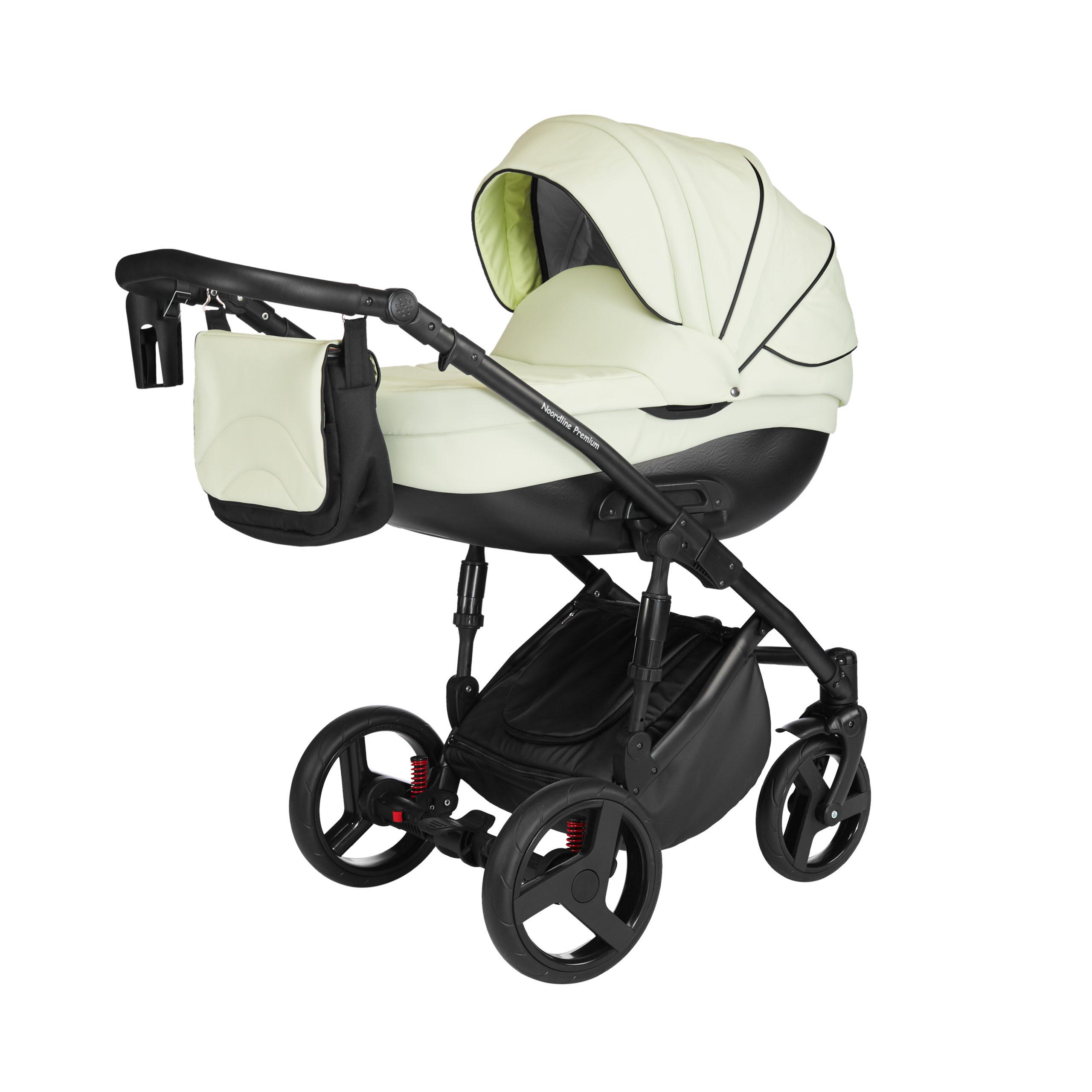 Детская коляска Noordline Оlivia Premium Sport  3 в 1 КОЖА (Белый)