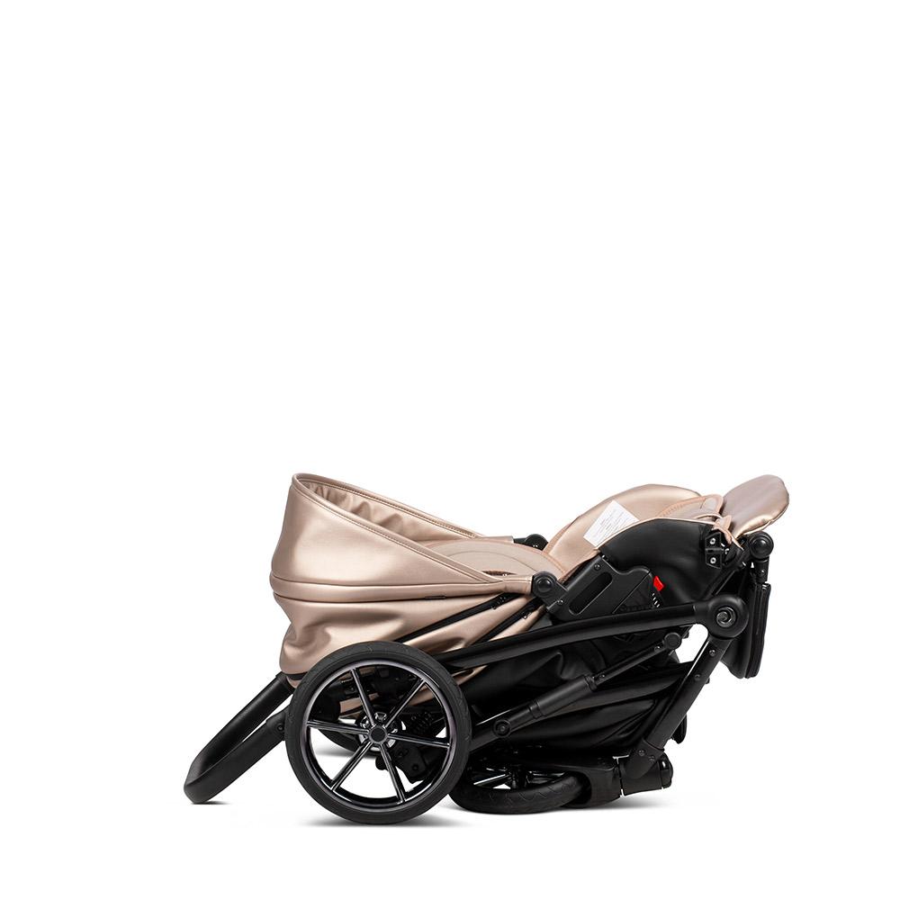 Коляска Tutis Viva Life Galaxy 2 в 1 эко-кожа (Розовый/черный)
