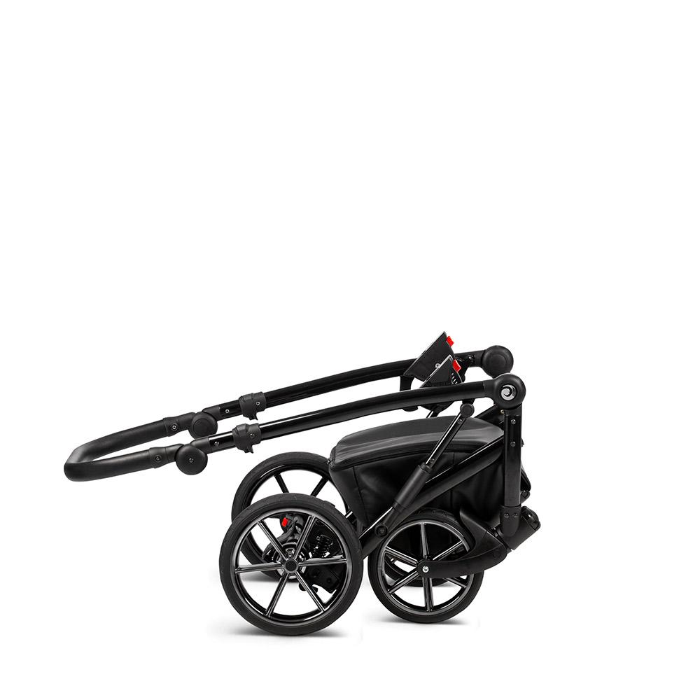 Коляска Tutis Viva Life Galaxy 2 в 1 эко-кожа (Серый/черный)