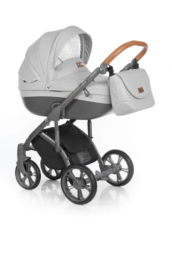 Детская коляска Roan Bass Soft 2 в 1 (Серый)