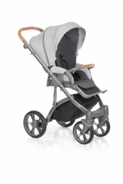 Детская коляска Roan Bass Soft 3 в 1 New 2019 (Серый) Silver Chevron