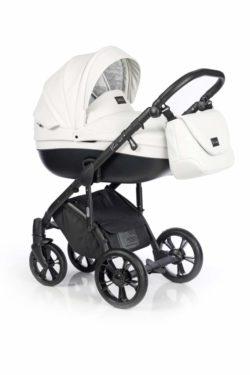 Детская коляска Roan Bass Soft 3 в 1 New 2019 (Белый) Black Diamond