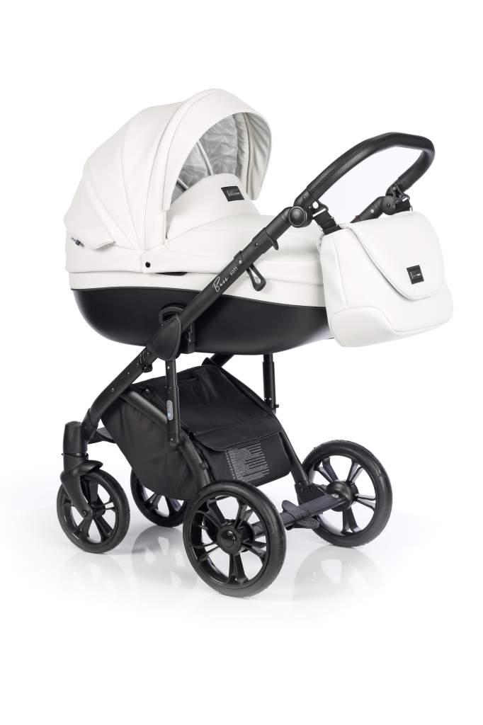 Детская коляска Roan Bass Soft 2 в 1 (Белый/черный)