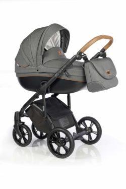 Детская коляска Roan Bass Soft 3 в 1 New 2019 (Серый) Black Dots