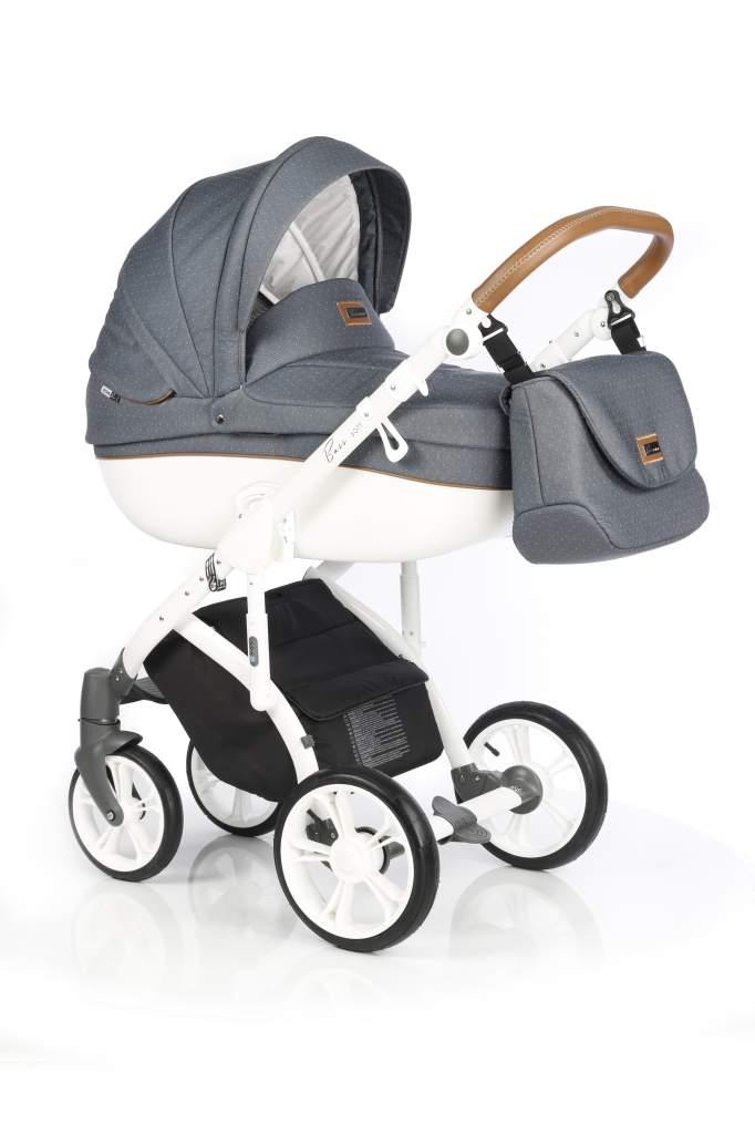 Детская коляска Roan Bass Soft 2 в 1 (Серый/белый)